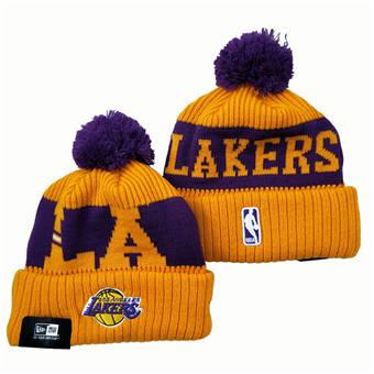 2021 Basketball Los Angeles Lakers Knit Hats 042
