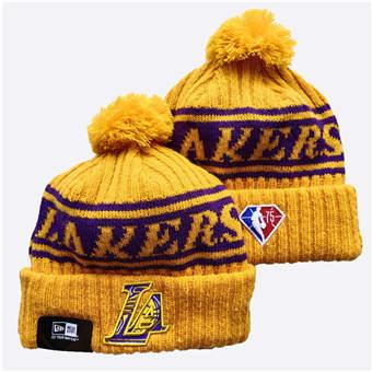 2021 Basketball Los Angeles Lakers Knit Hats 043