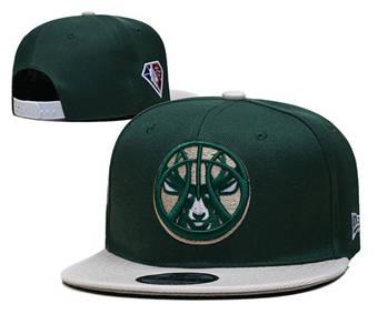 2021 Basketball Milwaukee Bucks Finals Stitched Snapback Hats 009