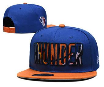 2021 Basketball Oklahoma City Thunder Stitched Snapback Hats 007