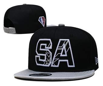 2021 Basketball San Antonio Spurs Stitched Snapback Hats 009