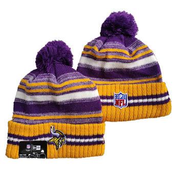 2021 Football Minnesota Vikings Knit Hats 044