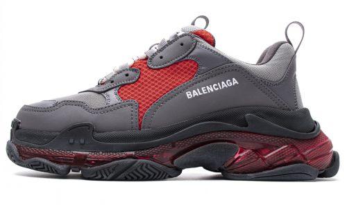 544351 W06E5 8688 Balenciaga Sneaker TessS.Gomma Dark Grey Burgundy