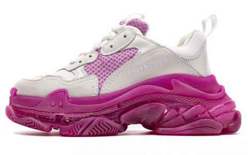 544351 W09OH 7083 Balenciaga Sneaker TessS.Gomma White Peach