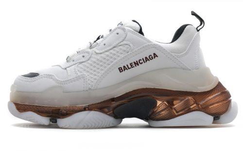 544351 W09ON 9030 Balenciaga Sneaker TessS.Gomma White Rose Gold
