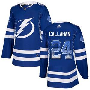 Lightning #24 Ryan Callahan Blue Home  Drift Fashion Stitched Hockey Jersey