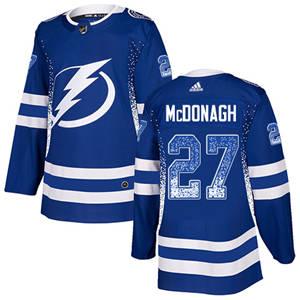 Lightning #27 Ryan McDonagh Blue Home  Drift Fashion Stitched Hockey Jersey