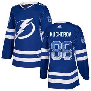 Lightning #86 Nikita Kucherov Blue Home  Drift Fashion Stitched Hockey Jersey
