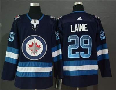 Winnipeg Jets #29 Patrik Laine Navy Drift Fashion Men's Stitched Hockey Hockey Jersey