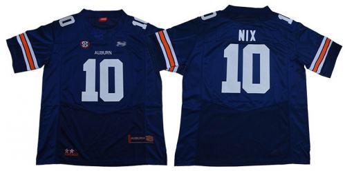 Auburn Tigers #10 Bo Nix Blue Limited Stitched College Football Jersey
