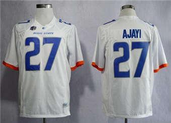 Boise State Broncos #27 Jay Ajayi White Stitched NCAA Jersey