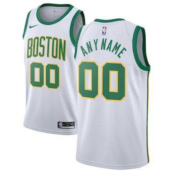 Boston Celtics  2018-19 Swingman Custom Jersey - City Edition - White