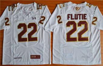 Boston College Eagles #22 Doug Flutie White  Performance Stitched NCAA Jersey