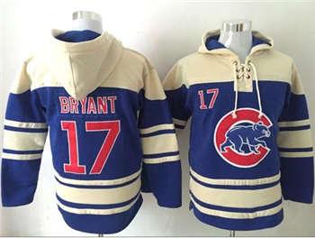 Chicago Cubs #17 Kris Bryant Blue Sawyer Hooded Sweatshirt Baseball Hoodie