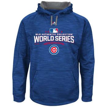 Chicago Cubs 2016 World Series Baseball  Collection On Field Participant Streak Fleece Men's Hoodie