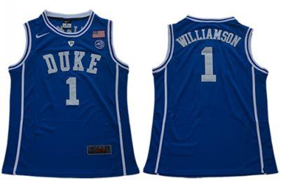 Duke Blue Devils #1 Zion Williamson Blue Stitched College Basketball Jersey