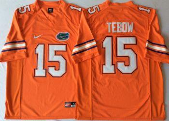Florida Gators #15 Tim Tebow Orange  College Football Jersey
