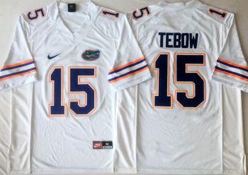 Florida Gators #15 Tim Tebow White  College Football Jersey