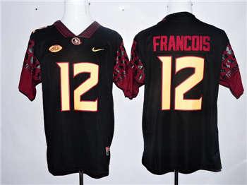 Florida State Seminoles #12 Deondre Francois Black College Football Jersey