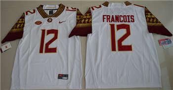 Florida State Seminoles #12 Deondre Francois White College Football Jersey