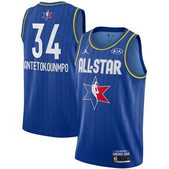 Giannis Antetokounmpo 2020 All-Star Game Swingman Basketball Jersey - Blue
