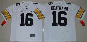 Hawkeyes #16 C. J. Beathard White Stitched NCAA Jersey