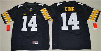 Iowa Hawkeyes #14 Desmond King Black College Football Jersey