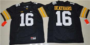 Iowa Hawkeyes #16 C.J. Beathard Black College Football Jersey