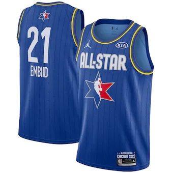 Joel Embiid 2020 All-Star Game Swingman Basketball Jersey - Blue