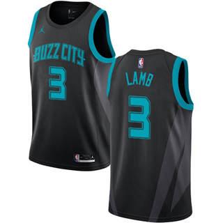 Jordan Brand Charlotte Hornets #3 Jeremy Lamb Black 2018-19 Swingman Basketball New City Edition Jersey
