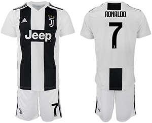 Kids Juventus #7 Cristiano Ronaldo Home Soccer Club Jersey