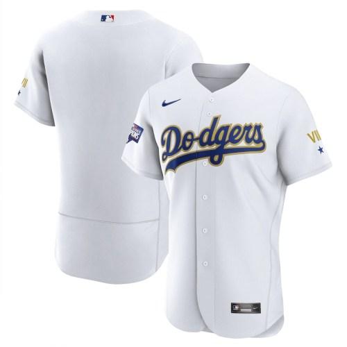 Los Angeles Dodgers Custom 2021 Gold Program Authentic Baseball Team Jersey - White Gold