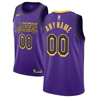 Los Angeles Lakers  2018-19 Swingman Custom Jersey - City Edition - Purple