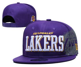 Los Angeles Lakers Stitched Adjustable Snapback Hat