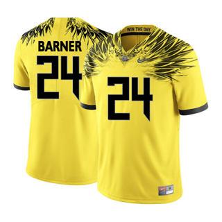 Men's 2019 Oregon Ducks #24 Kenjon Barner NCAA Jersey Wings Yellow