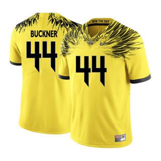Men's 2019 Oregon Ducks #44 DeForest Buckner Yellow Football Jersey