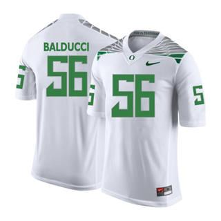 Men's 2019 Oregon Ducks #56 Alex Balducci NCAA Jersey Wings White