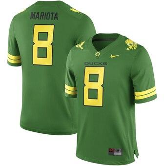 Men's 2019 Oregon Ducks #8 Marcus Mariota Apple Green Alumni Football Jersey