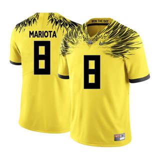 Men's 2019 Oregon Ducks #8 Marcus Mariota NCAA Jersey Wings Yellow