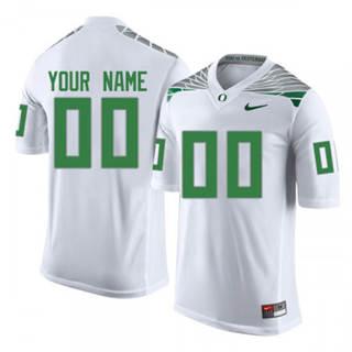 Men's 2019 Oregon Ducks Custom Name Number White NCAA Football Jersey