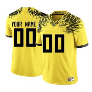 Men's 2019 Oregon Ducks Custom Name Number Yellow NCAA Football Jersey