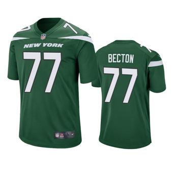 Men's 2020 Draft Jets Green Mekhi Becton Game Jersey