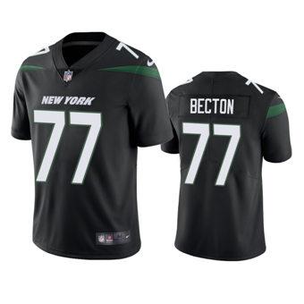 Men's 2020 Draft Jets Mekhi Becton Black Vapor Limited Jersey