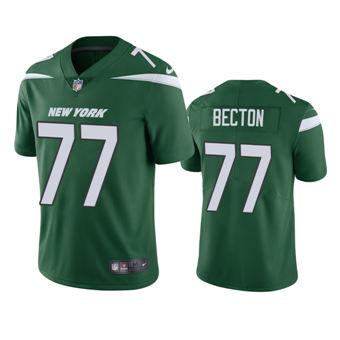 Men's 2020 Draft Jets Mekhi Becton Green Vapor Limited Jersey