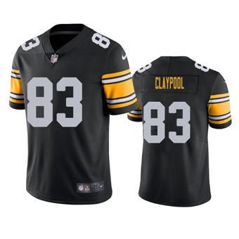 Men's 2020 Draft Steelers Chase Claypool Black Alternate Vapor Limited Jersey