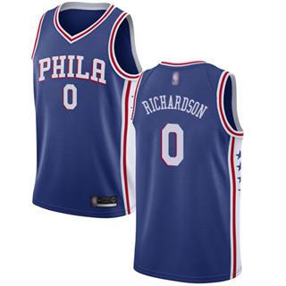 Men's 76ers #0 Josh Richardson Blue Basketball Swingman Icon Edition Jersey
