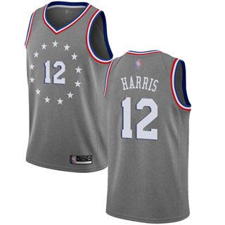 Men's 76ers #12 Tobias Harris Gray Basketball Swingman City Edition 2018-19 Jersey