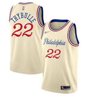 Men's 76ers #22 Mattise Thybulle Cream Basketball Swingman City Edition 2019-2020 Jersey