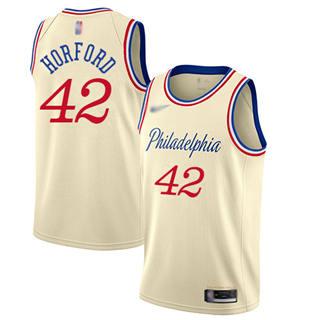 Men's 76ers #42 Al Horford Cream Basketball Swingman City Edition 2019-2020 Jersey