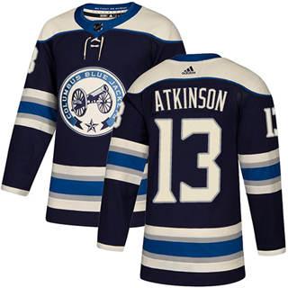 Men's  Columbus Blue Jackets #13 Cam Atkinson Navy Alternate  Stitched Hockey Jersey